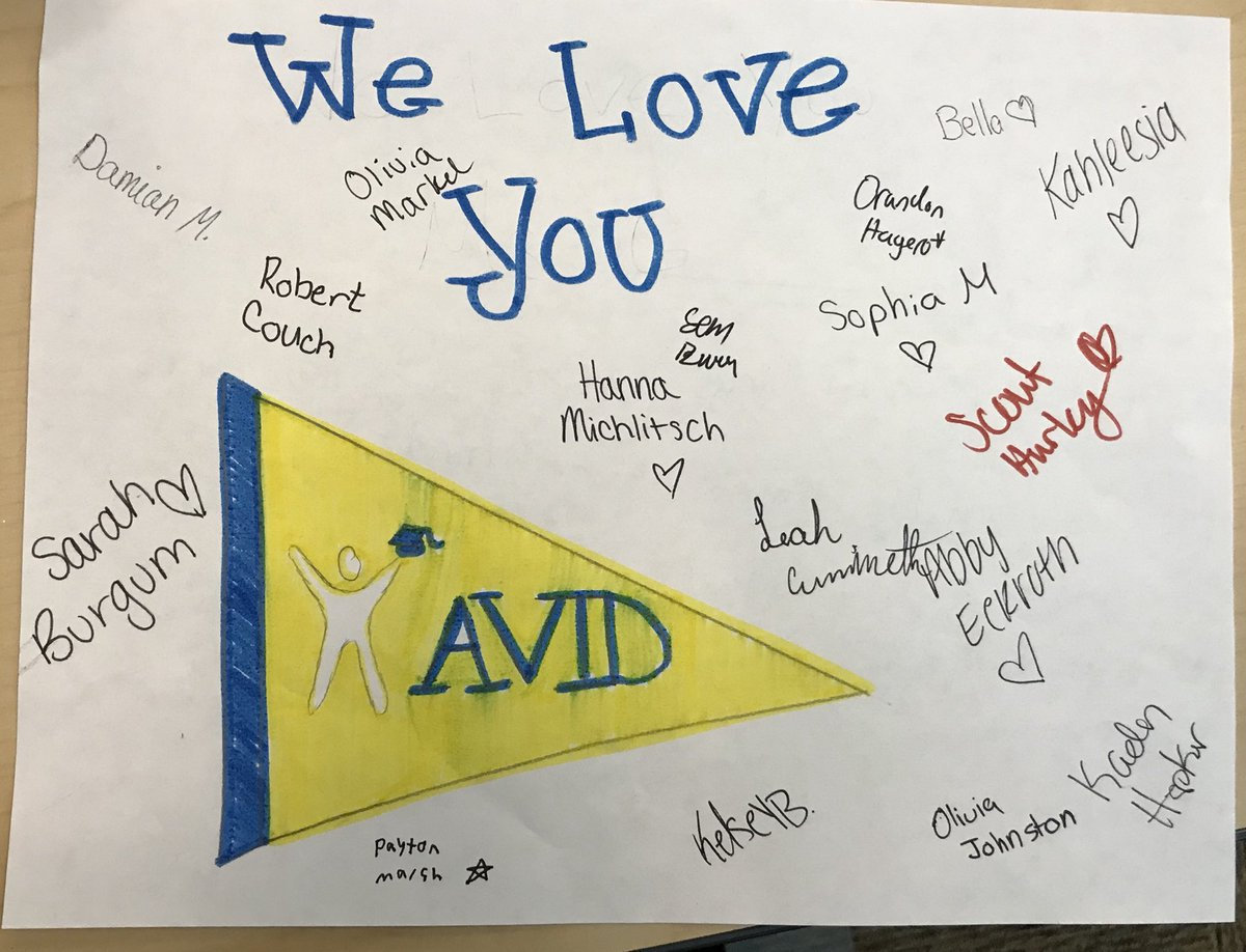 Ms gravseth on twitter my avid 8 students decided they would write when we returned from delivering them i found this on my desk i get to teach the best kids thisisavid bravesengagepicittermarziaf9sf spiritdancerdesigns Image collections