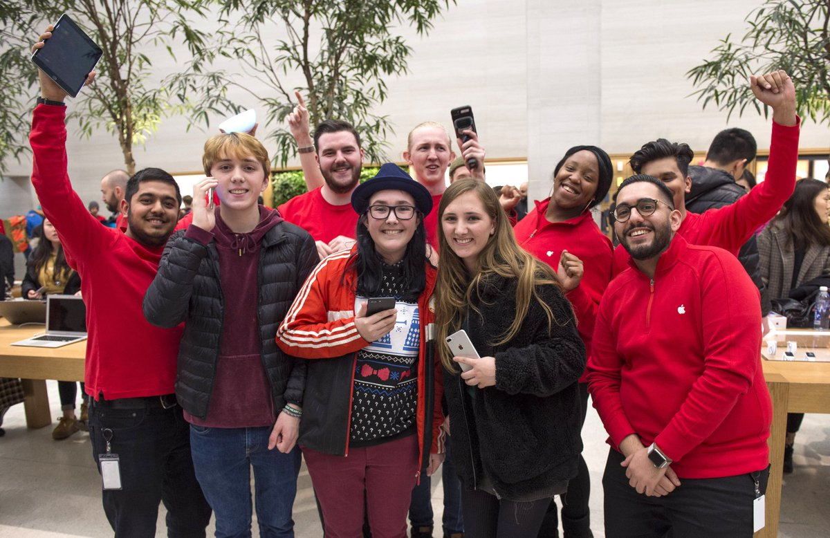 Here's to the tens of thousands of dedicated Apple Retail employees around the world, spreading joy at the busiest time of the year! Thank you for helping so many customers this holiday season, and for inspiring us every day.