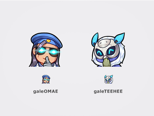 2 more emotes done for @Gale_Adelade https://www twitch tv