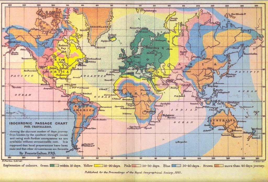 RT @conradhackett: This map shows travel time from London in 1881 https://t.co/CbMNxcDEpu