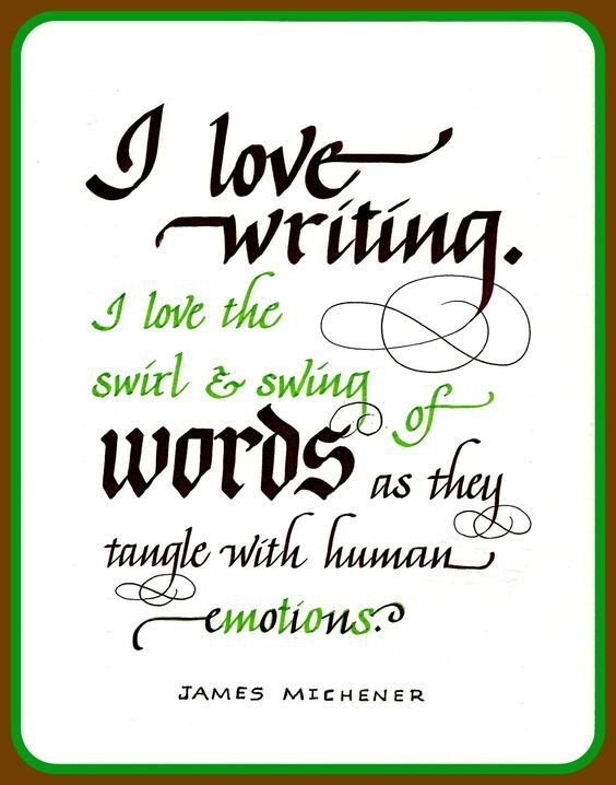 Sharon Salu On Twitter Quote James Michener On Writing And