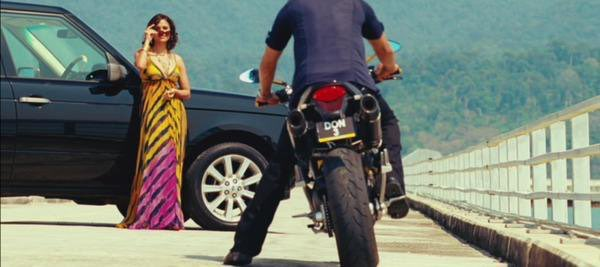 "At the end of the movie, Don (Shah Rukh Khan) is seen riding a motorbike on a long motorway aboard a bridge. The license plate of the bike reads ""Don 3"" hinting at the possibility of a sequel.  We want Don3 @FarOutAkhtar @ritesh_sid     #9YearsOfDon2"