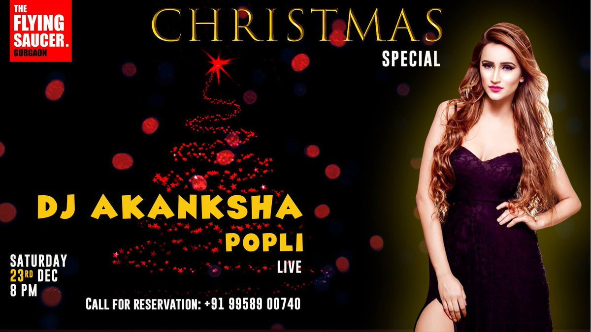 Tonight #Weekend @TFS_Cafe #Gurgaon brings You @DjAkankshaPopli Live - Christmas Special Night !!  For Reservations:+91-9711971244 Download Your Party App : http://goparties.com/apps pic.twitter.com/pCaSa2Yu70