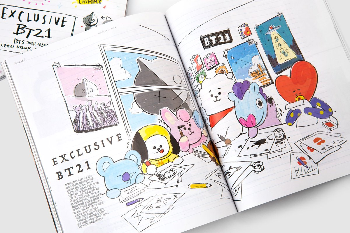 Check out photos and stories of making of #BT21  #나일론1월호 #NYLON