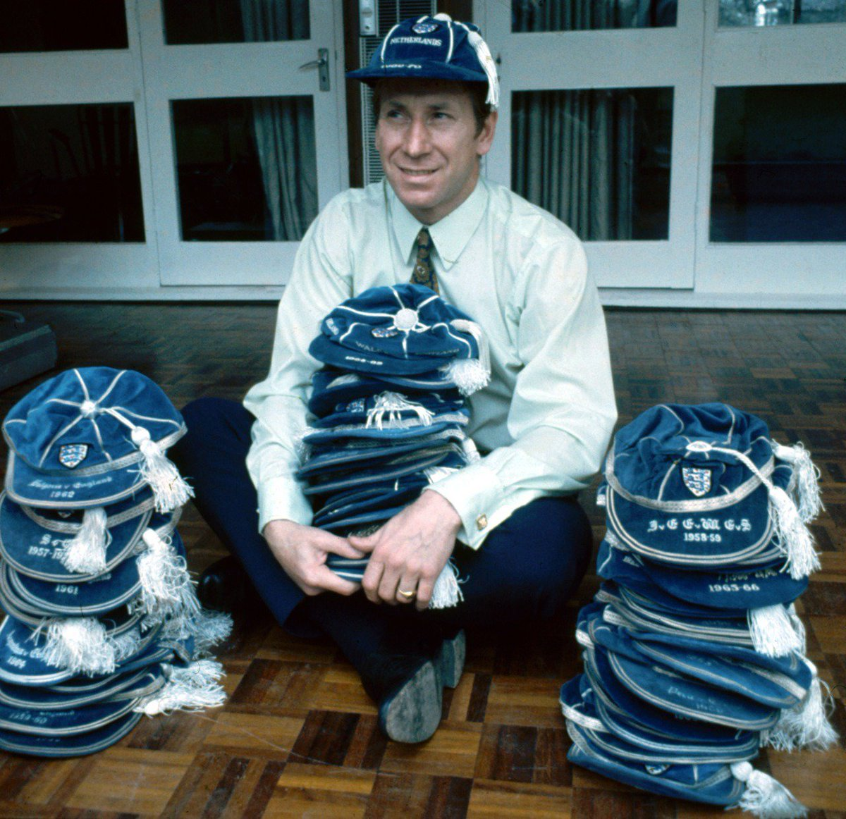 Sir Bobby Charlton and his 100 England caps 1970