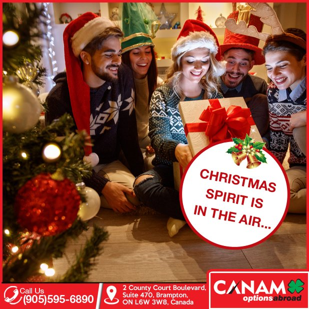 fun and celebrating christmas team canam options abroad in canada wishes everyone a very merrychristmas let us make your canadaeducation time more