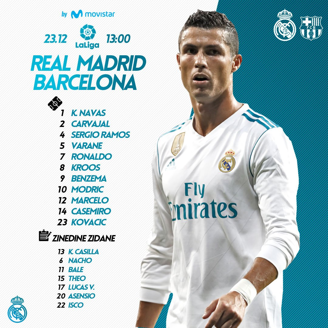 Real Madrid Tv On Twitter Real Madrid Vs Barcelona Here We Go Elclásico Free Live Stream For Pc Mobile Android Ipad Iphone Here Https T Co Ygztqx3otm Https T Co Gtodiyywk1