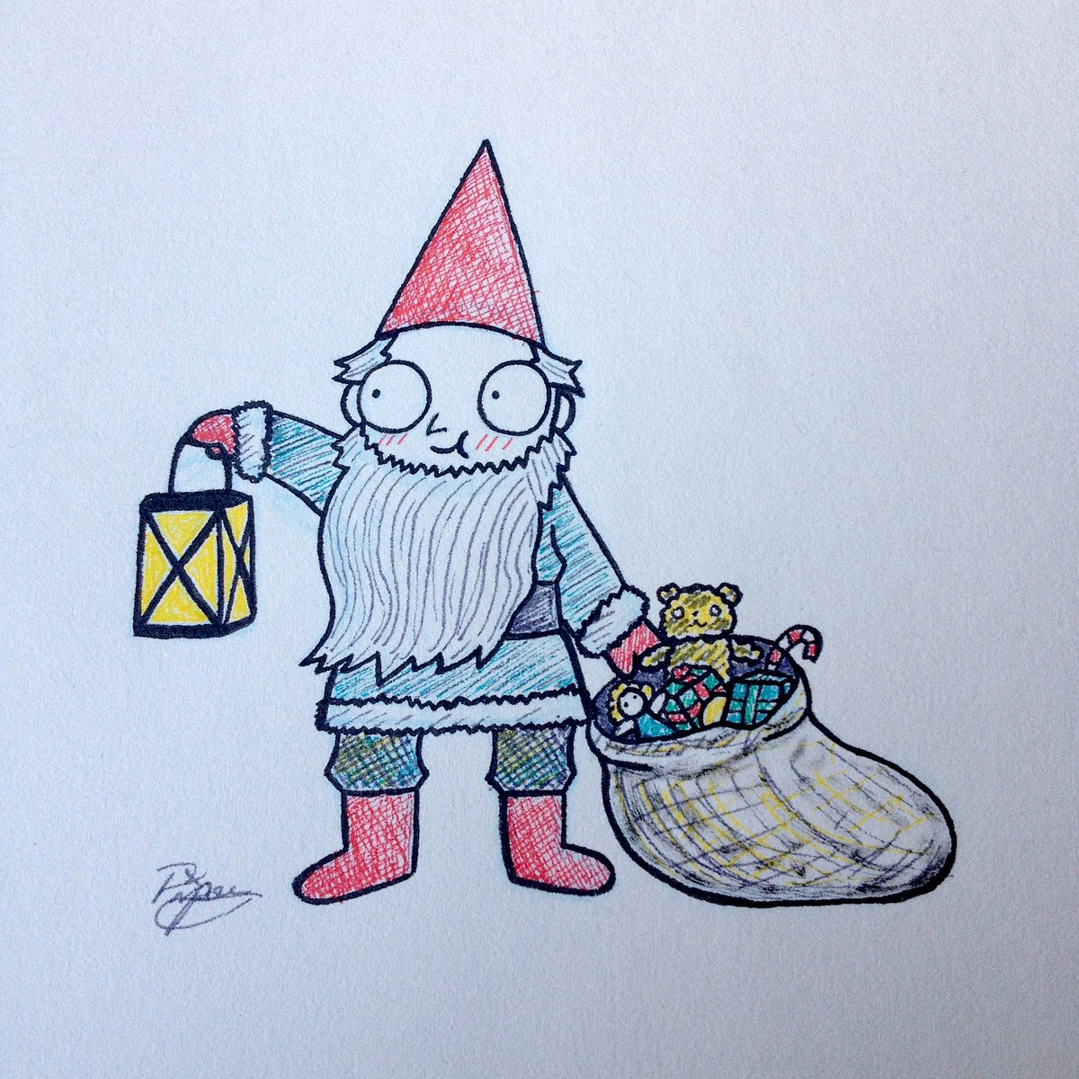 Christmas Gnome Drawing.Tomten Hashtag On Twitter