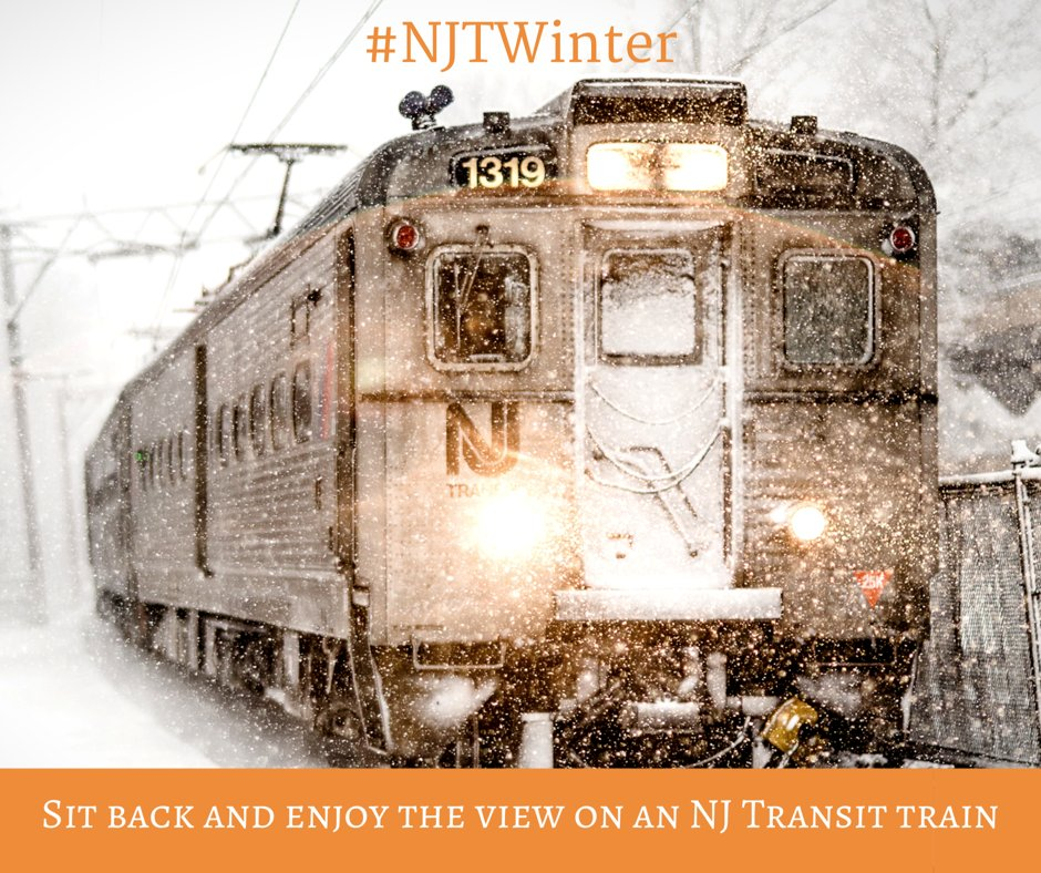 Nj Transit A Twitter Snow Is Beautiful To Look At But Not To Drive In When New Jersey Gets Snow Sit Back And Enjoy The View On An Nj Transit Train To