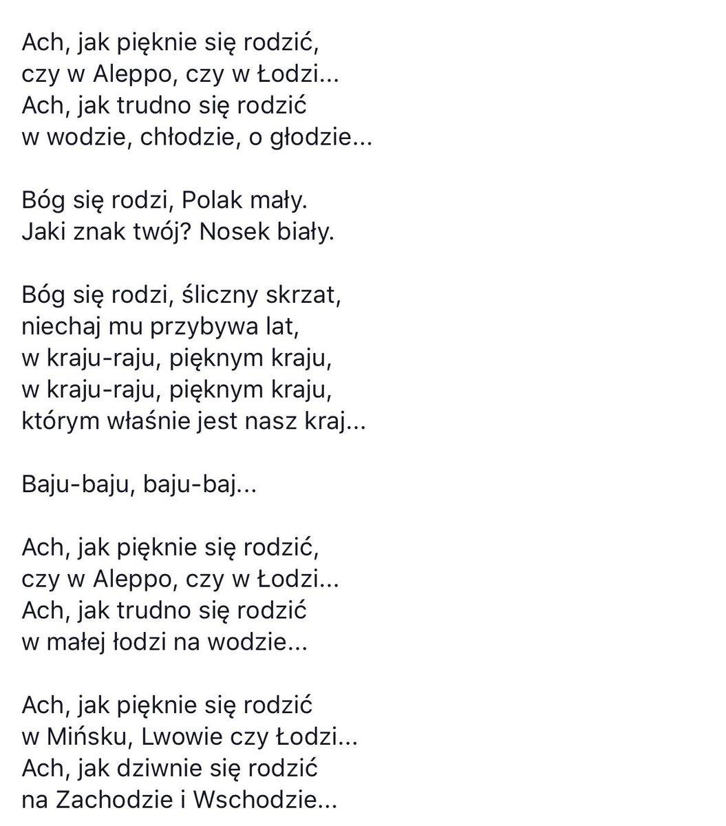Adam в Twitter Wiersz Który Przeczytał Andrzej Seweryn W