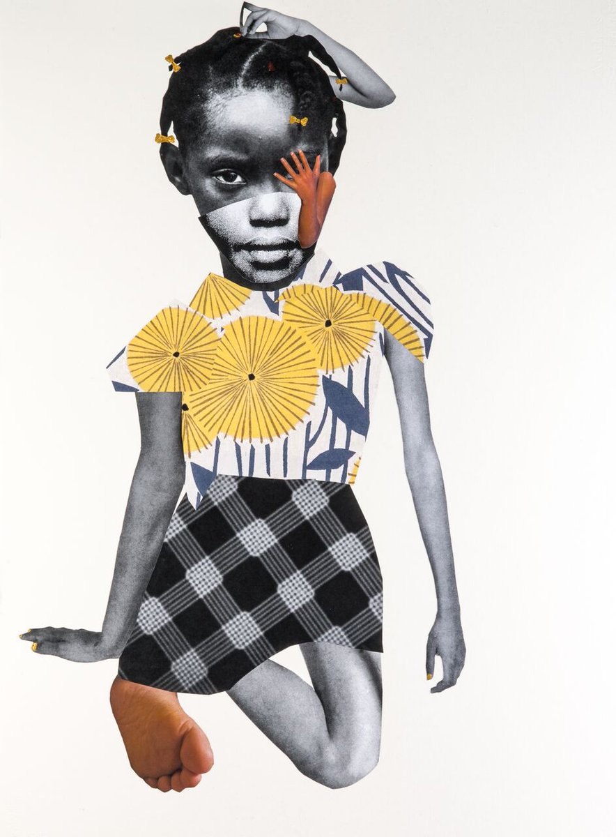 "Deborah Roberts, ""As I am,"" 2017, Mixed media on paper. #TheEvolutionOfMimi #COMINGSOON #AsIAm #SaturdayMorning #EveryMorning"