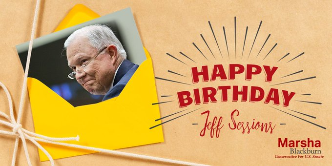 Happy Birthday to Attorney General, Jeff Sessions!