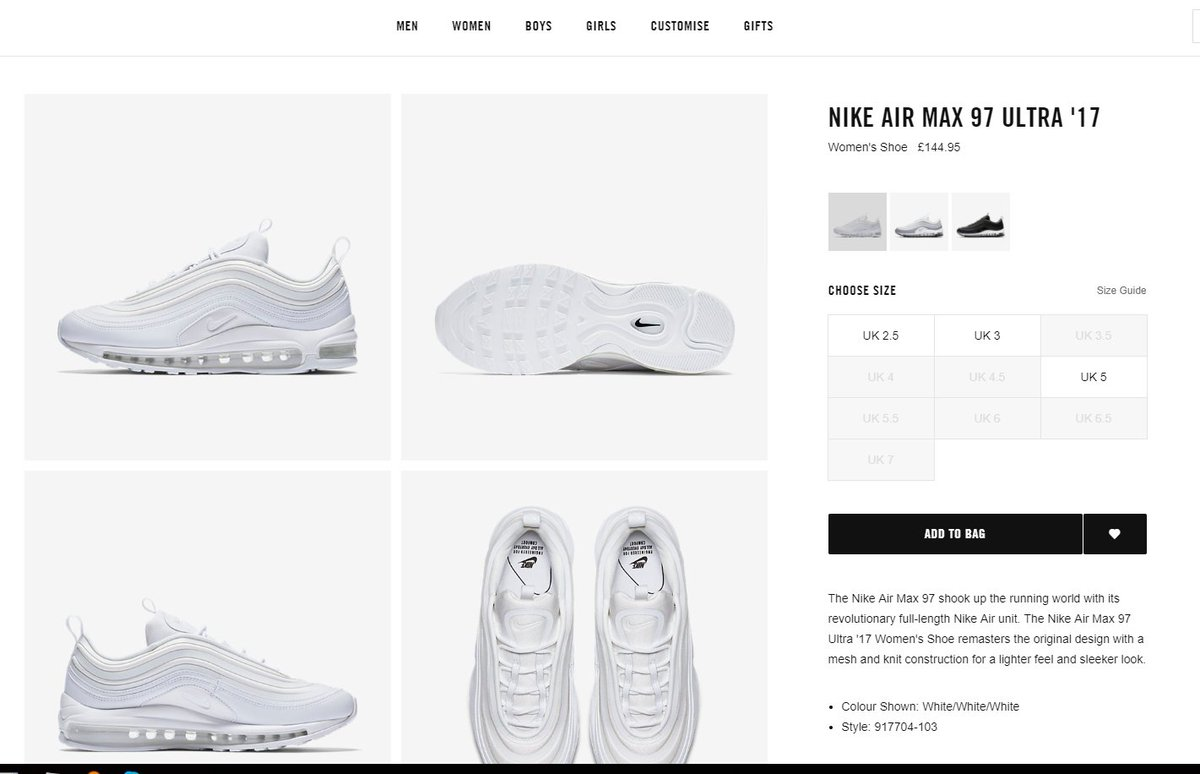 Fastsoleuk On Twitter Few Sizes Left Only Nikestoreeurope Nike