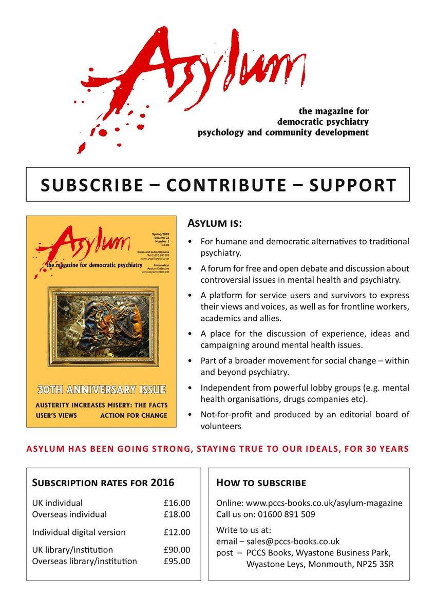 Asylum Magazine on Twitter: \
