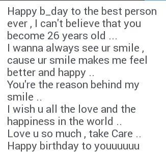 Happy birthday to youuuu
