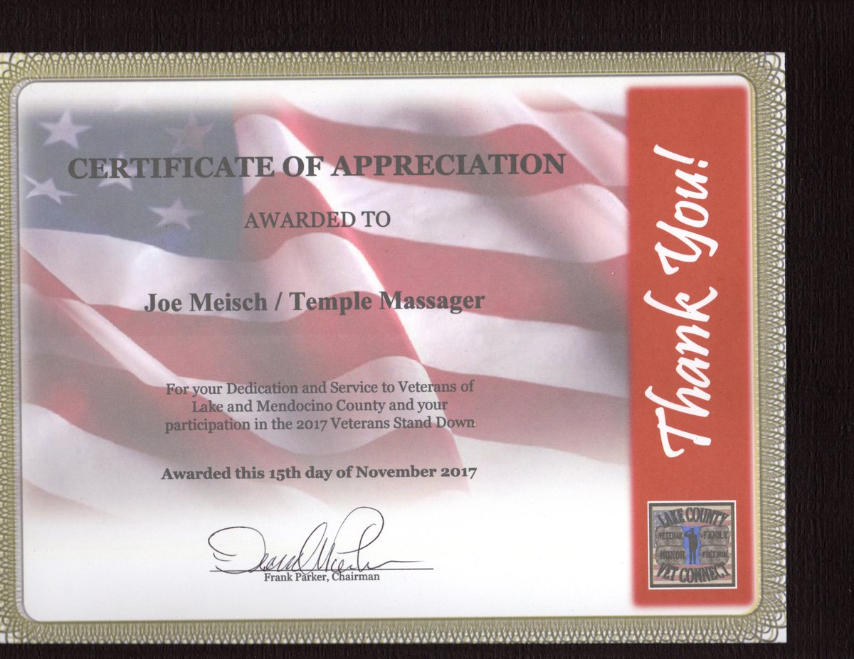 Joe meisch on twitter grateful to receive a certificate of my company worked with cavfw california vfw to help combat veterans receive our device for stressmanagement startup veteranpicitter yelopaper Choice Image