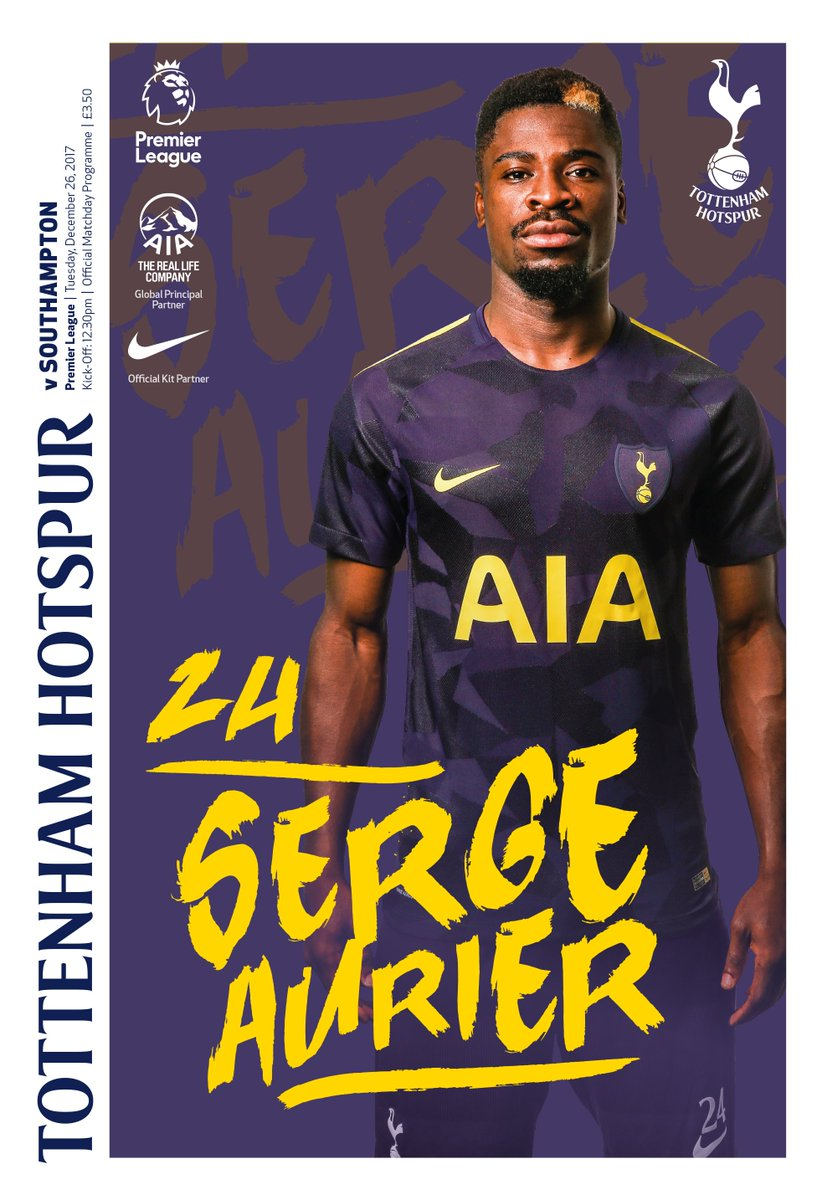 📖 @Serge_aurier is the star of our Boxing Day matchday programme!  Get your copy - spurs.to/Programmes17-18    #COYS