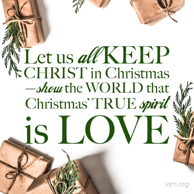 """keep christ in christmas """"keep christ in christmas surely that's what the season is about"""" sadly, the rush to get ready for holiday festivities and the rampant commercialization of christmas so often turns this into just another holiday for so many, and the birth of christ."""