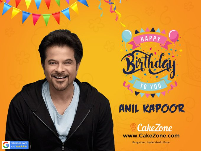 CakeZone wishes Anil kapoor  Happy Birthday ......