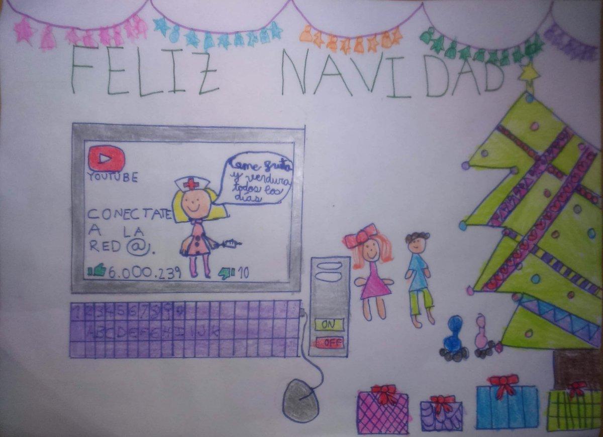Con el dibujo de Vera Hernández Fernández (6 años) hija de colegiada Beatriz Fernández Portillo, ganadora de la III Edición del Concurso de Christmas, os enviamos nuestros mejores deseos para el 2018. En este enlace podéis ver las felicitaciones recibidas https://t.co/04lXd86CpA