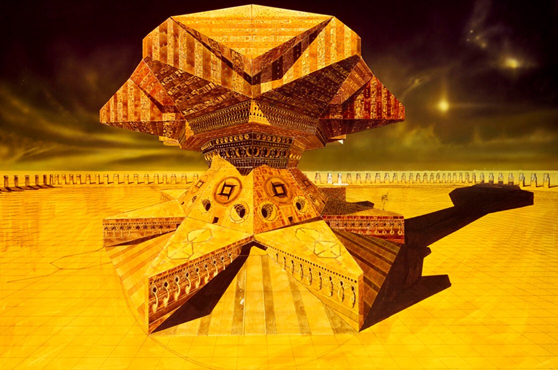 Chris Foss 1975 concept artwork for Alejandro Jodorowsky's unfilmed Dune.