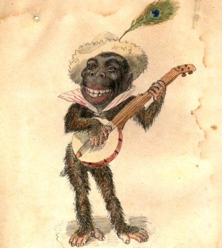 "Charles Briton, Gorilla (Costume design from Mistick Krewe of Comus' 1873 ""Missing Links"" parade), 1873"