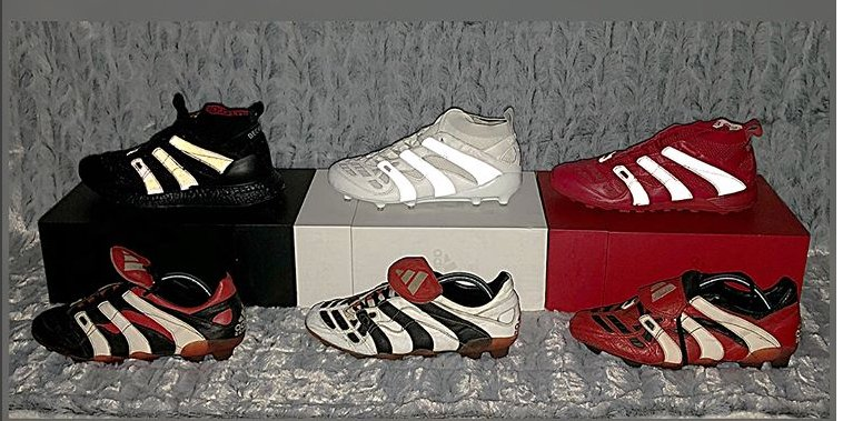 45b8640a9a3 The Adidas Predator Accelerator past and present. The Adidas x David Beckham  Capsule Collection and the 1998-1999 originals side by side.