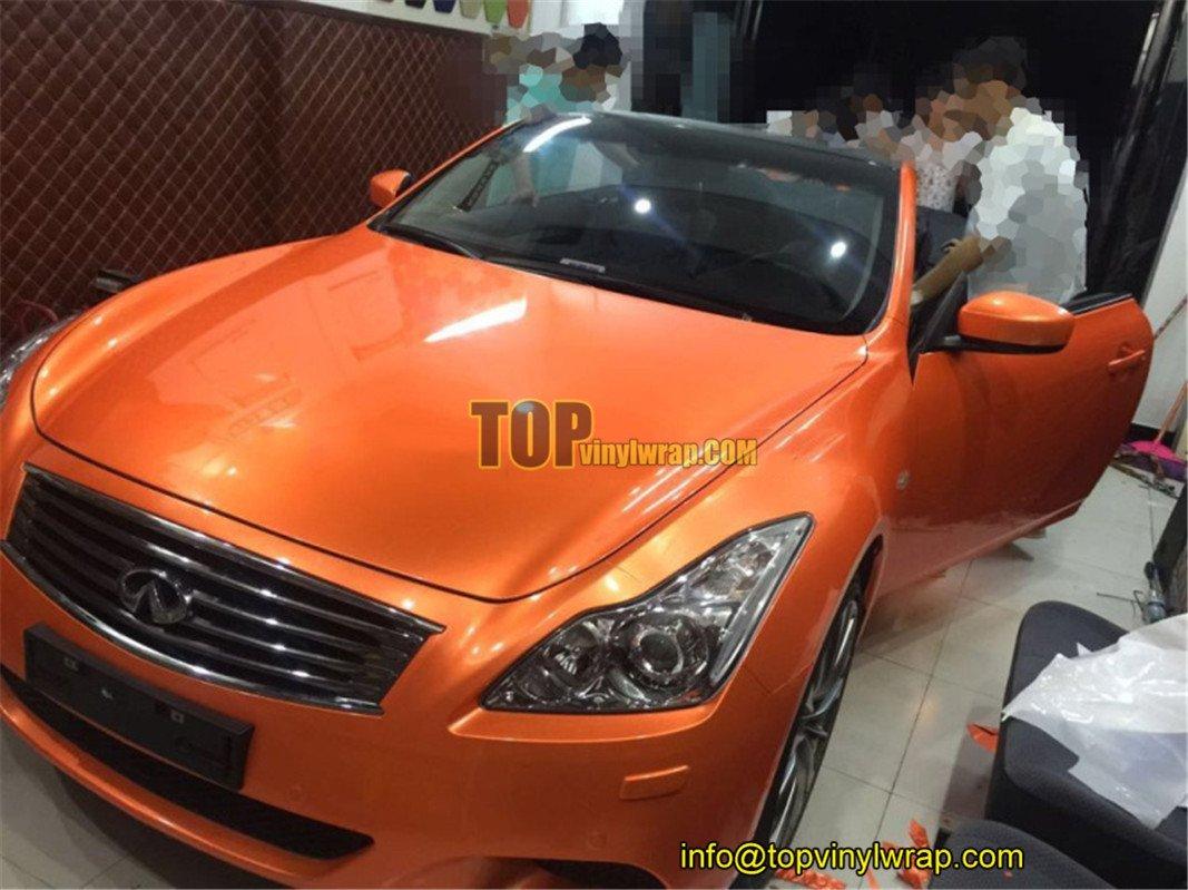 Topvinylwrap On Twitter For Sale Ultra Gloss Orange Car Vinyl Wrap