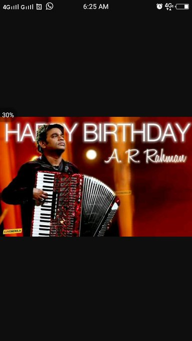 HAPPY BIRTHDAY To YOU WISHES A.R.RAHMAN SIR CONGRATS MAGIZHCHI