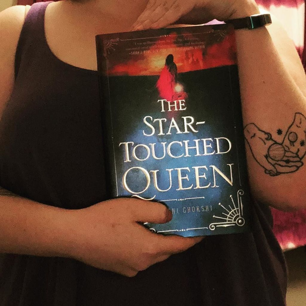 Jamie On Twitter I Feel Like I Don T Show Off My Tattoos Enough So Here Is A Shot Of One Of My Tattoos And The Star Touched Queen By Roshani Chokshi