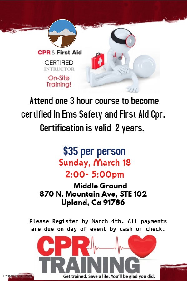 Middle Ground On Twitter Middle Ground Cpr Training Course