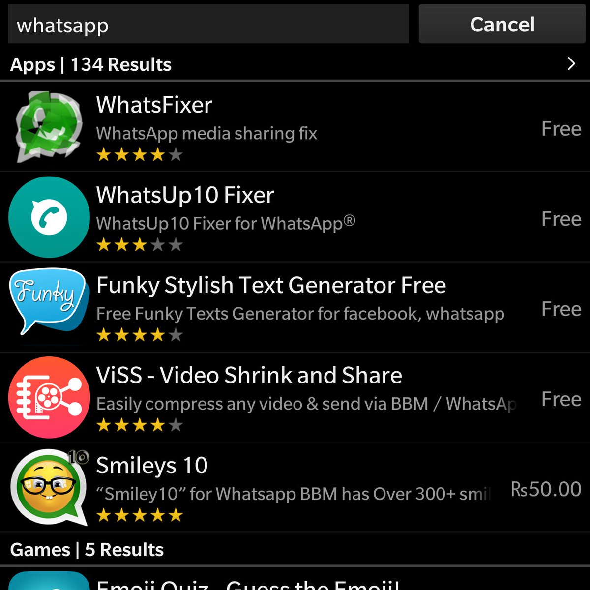 download whatsapp fixer for bb10