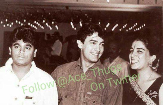 A rare pic. Of Aamir Khan and A.R Rahman  Happy Birthday legend