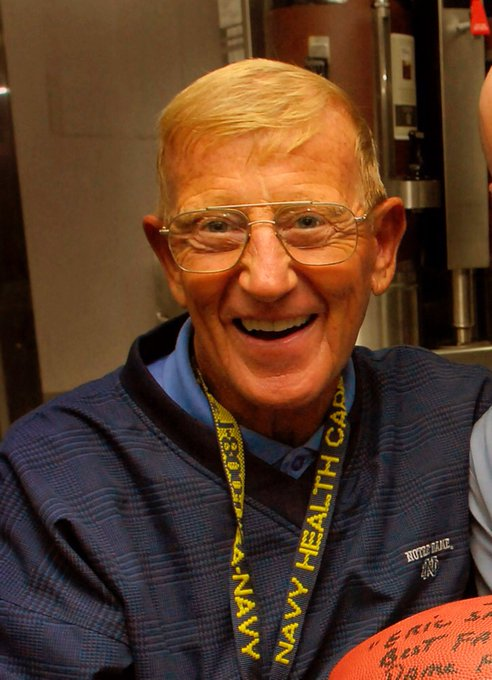 Happy Birthday Lou Holtz, college football coach; television sports commentator