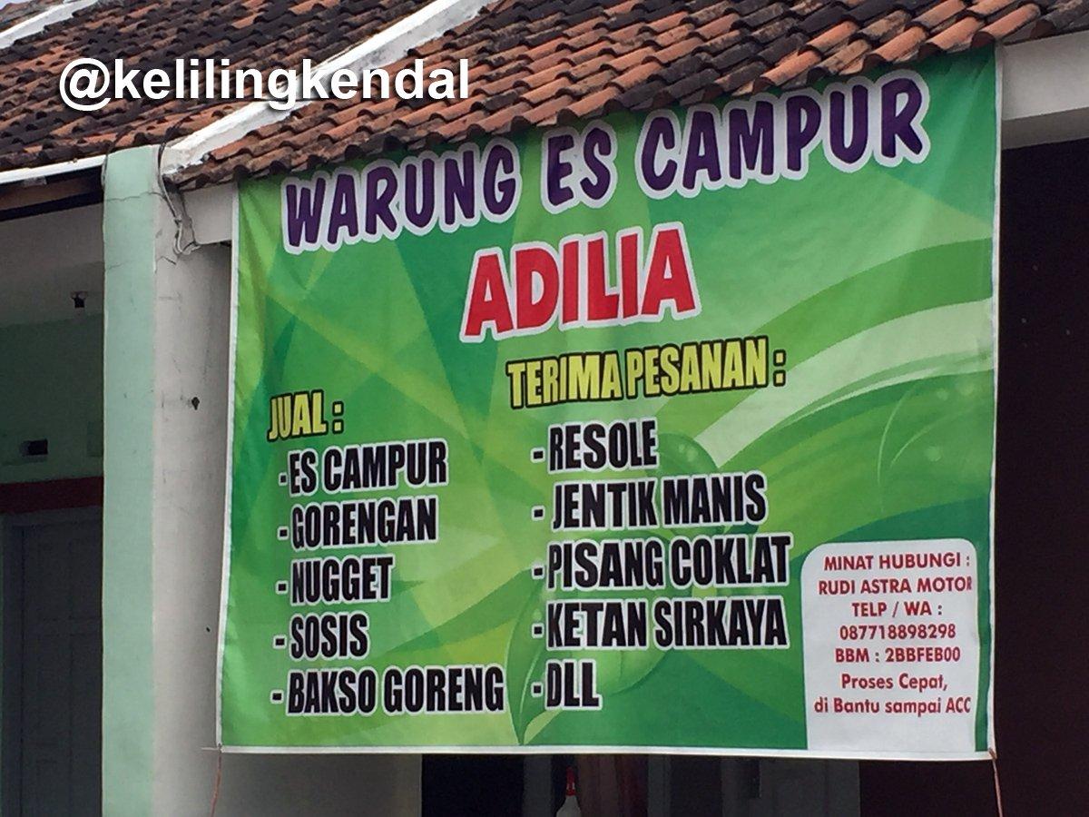 Keliling Kendal در توییتر Alamat Warung Es Campur Adilia