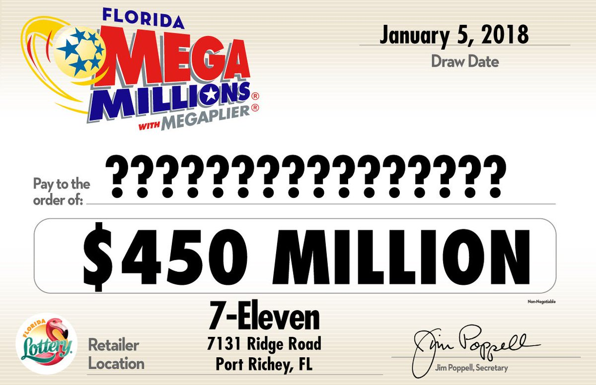 Florida Lottery On Twitter Check Your Tickets One Florida Ticket Was The Sole Winner Of Last Night S 4th Largest Megamillions Jackpot In History Https T Co Hvln6ihhyf