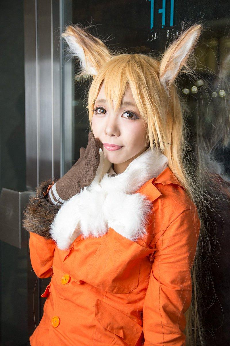 狐の格好をしたモカぴ