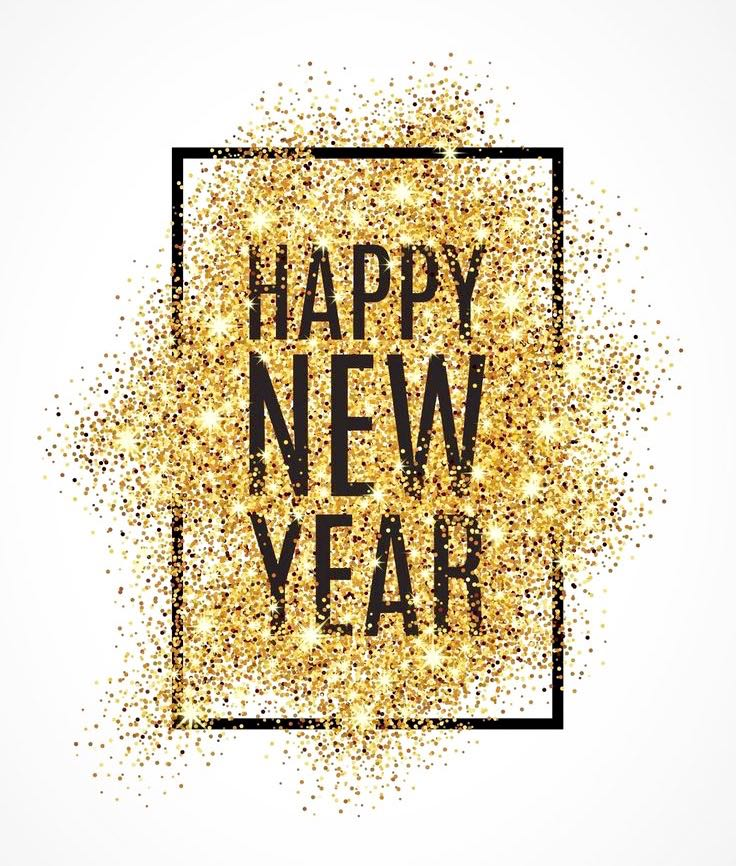 happy new year photo white background black font in bold saying happy new year