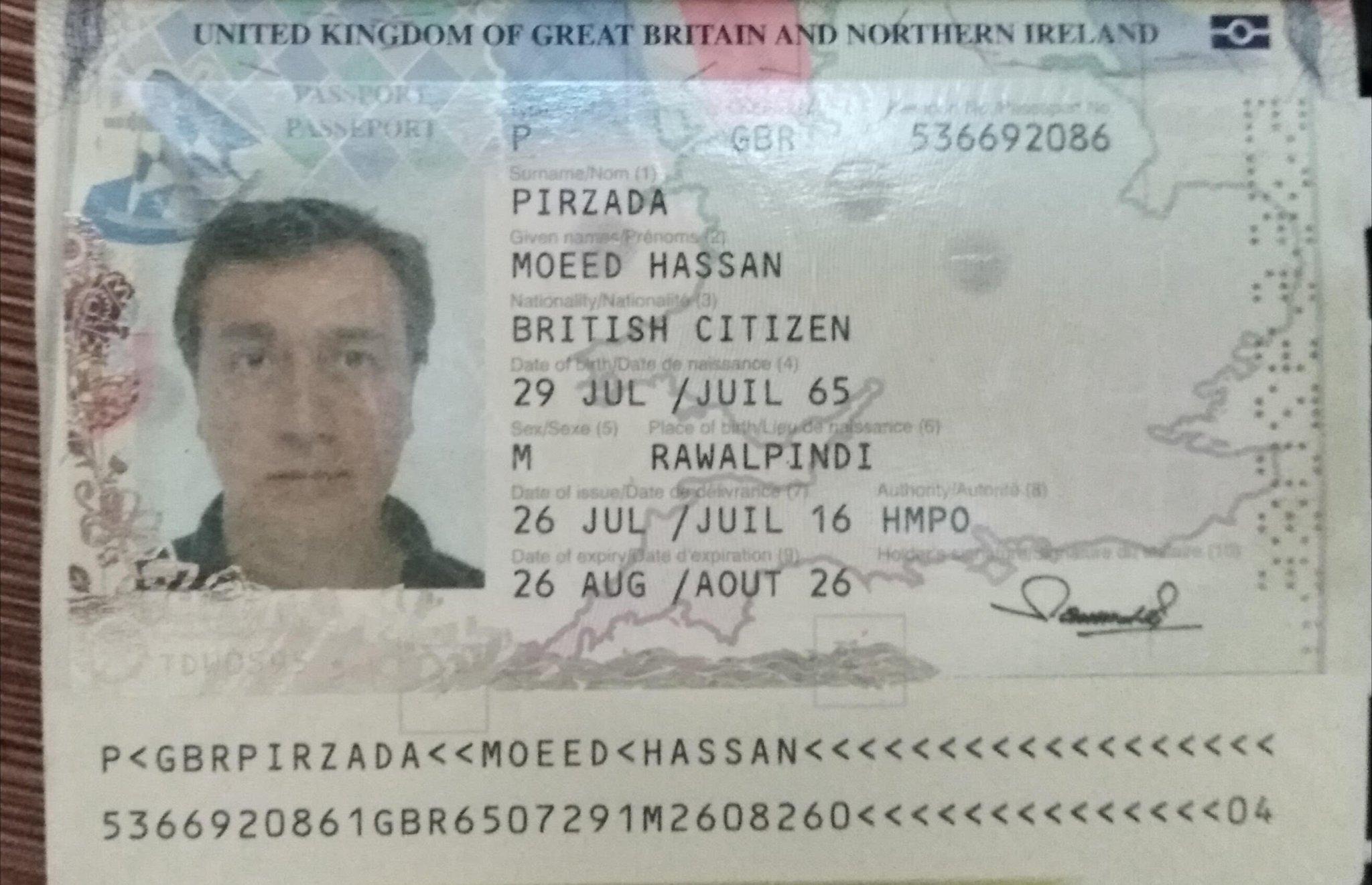 moeed pirzada passport british copy am latest