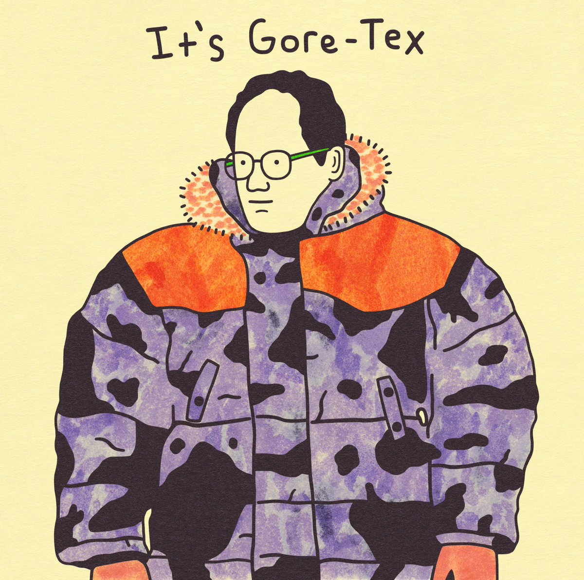 Gangster Doodles On Twitter George Costanza Goretex