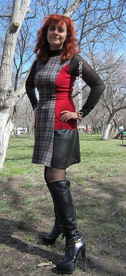 Above very short dresses in public properties