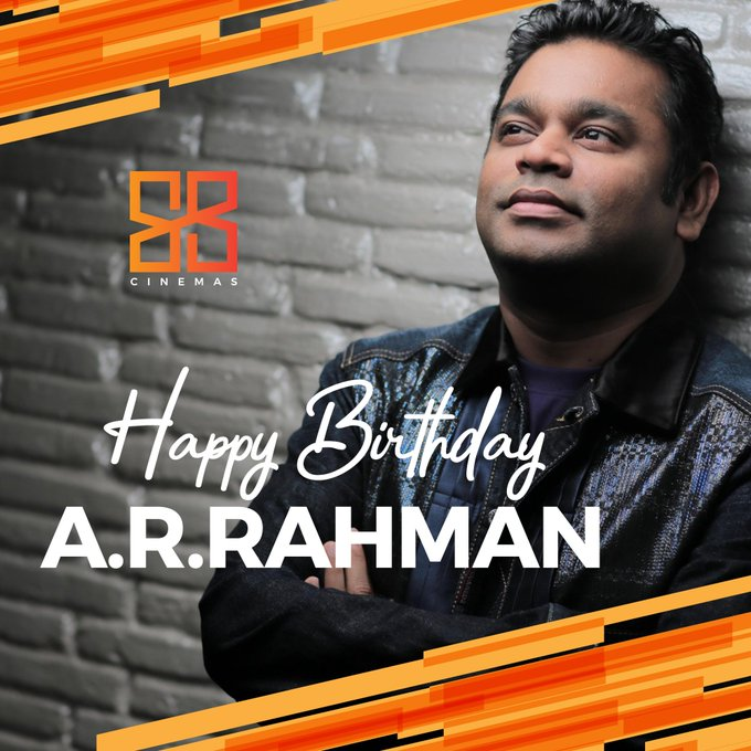 Happy birthday to the ruler of our playlists A.R.Rahman!