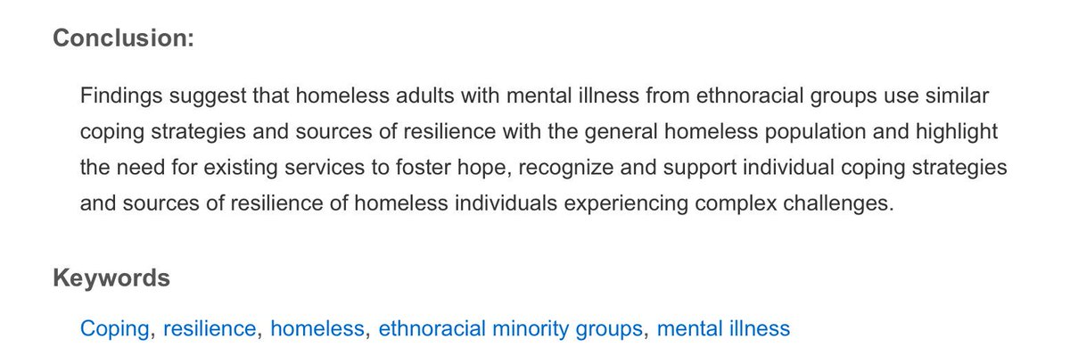 resiliency in homelessness Homelessness distinguished contributors analyze the problem of homelessness from a clinical perspective, focusing on the major health problems found among the homeless.
