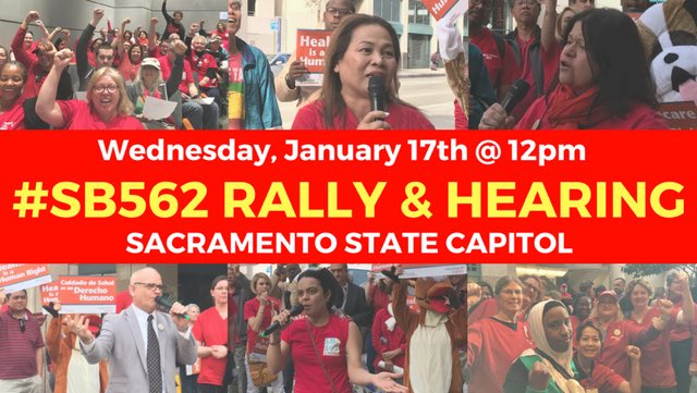 Rally and Hearing on Universal Health Care (SB 562 - Single Payer) @ State Capitol , Room 4202 | Sacramento | California | United States