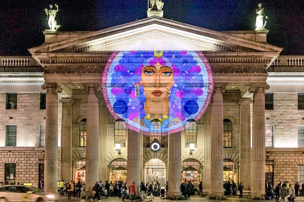... by @jimfitzpatrick lighting up the GPO in Dublin City last night for the #IlluminateHerstory Light Festival. Bazooka show by @Ge0Pop #womeninhistory ... & Sheena Wilkinson (@sheenawriter) | Twitter azcodes.com