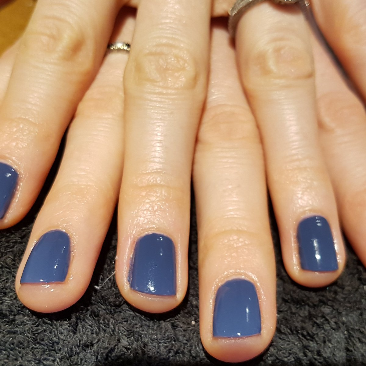 Navy Blue Shellac Nails   Best Nail Designs 2018