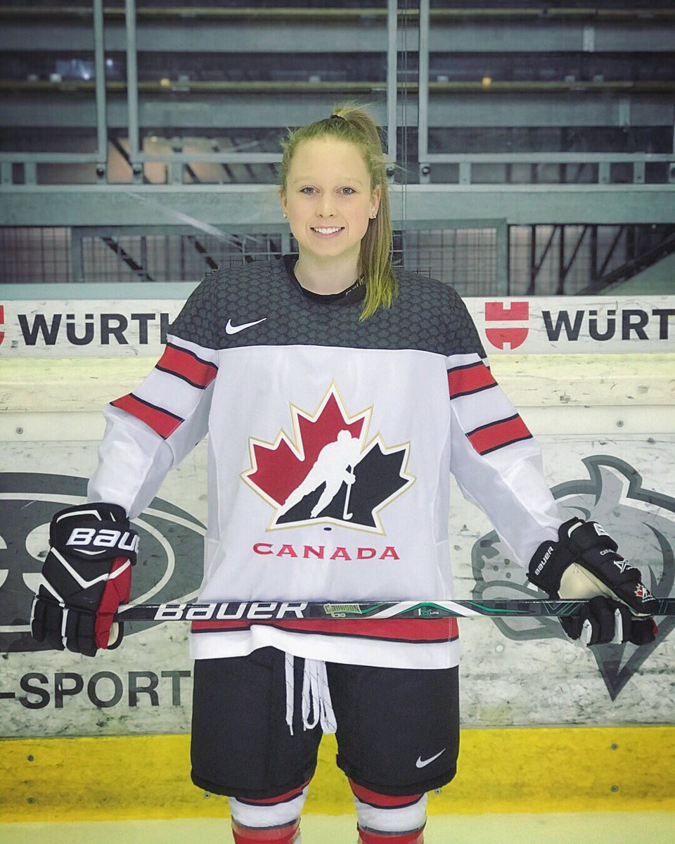 "loren gabel on Twitter: ""thank you @HC_Women for an amazing 10 days in Austria and Germany! always an honour to wear this jersey! 🇨🇦… """