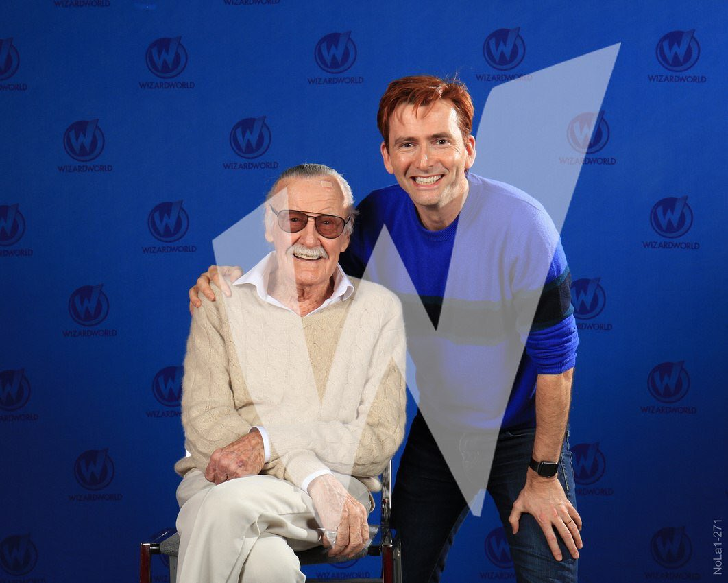 David Tennant with Stan Lee at Wizard World New Orleans fan convention on Friday 5th January 2018