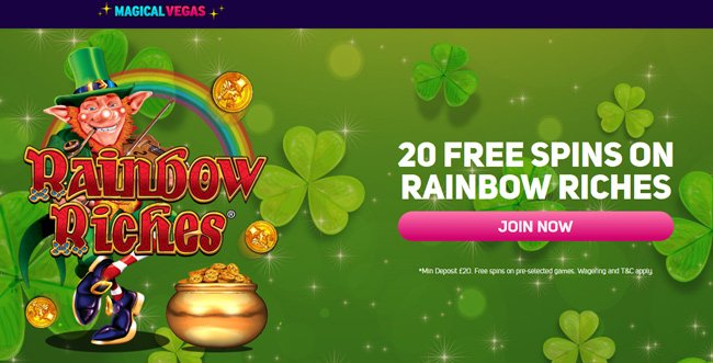 Magical Vegas Rainbow Riches free spins