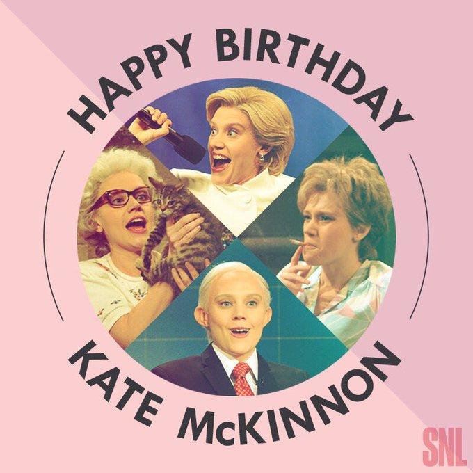 Everyone go wish Kate McKinnon a Happy Birthday!
